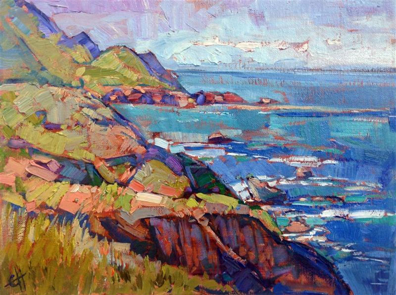 California Coast - Contemporary Impressionism Art Gallery in San Diego - Modern Landscape Oil ...