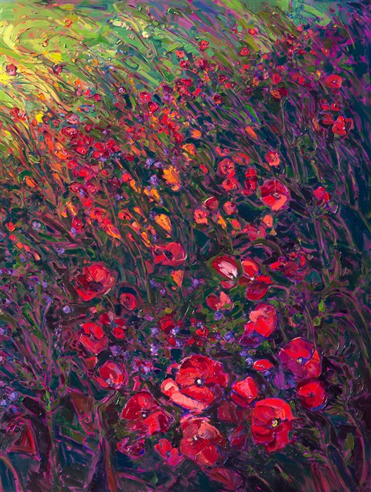 Field Of Blooms Contemporary Impressionism Landscape