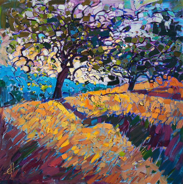 Light in the oaks contemporary impressionism art gallery for Wine and painting mn