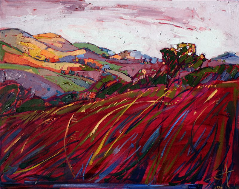 Loose Oil Painting By Expressionism Master Painter Erin Hanson