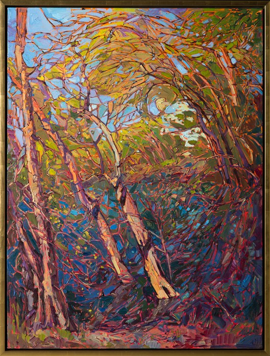 Whispering Woods Modern Impressionism Contemporary
