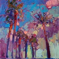 Sunset Palms baby painting by Erin Hanson.