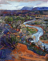 Albuquerque New Mexico oil painting landscape by Erin Hanson
