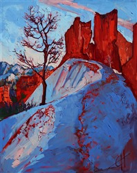 Bryce Canyon in November, original oil painting by impressionist artist Erin Hanson
