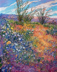 2017 California desert super bloom phenomenon captured in original oil painting by Erin Hanson