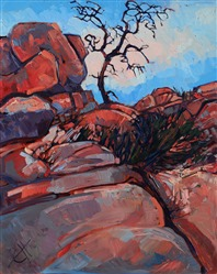 Joshua Tree National Park, rockscape painting by Erin Hanson