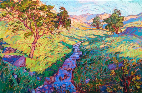Central california Mariposa landscape oil painting by Erin Hanson