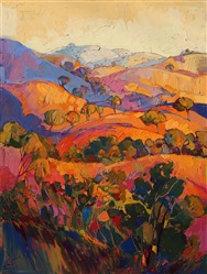Rambling Pastels, original oil painting of Paso Robles for sale by Erin Hanson