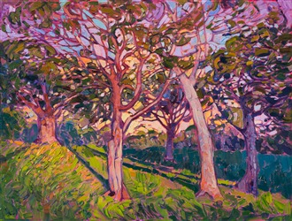 Contemporary impressionism brought to life by artist Erin Hanson.