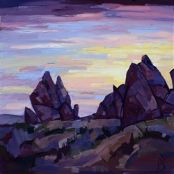 Abstract desert landscape by Erin Hanson