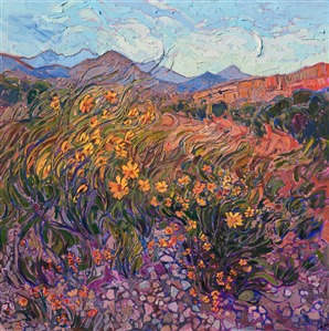 Big Bend National Park Texas landscape oil painting by Erin Hanson.