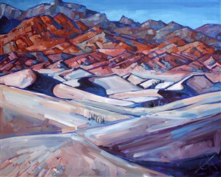 Death Valley oil painting landscape by Erin Hanson.
