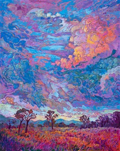 Texan Sky, original oil painting by modern impressionist Erin Hanson