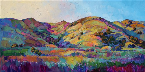California Greens II -- Paso Robles wine country oil painting landscape painting by Erin Hanson