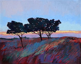 Open Impressionism artist Erin Hanson creates abstracted landscapes in oil