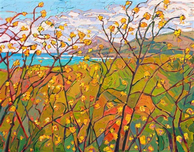 Abstract landscape by modern impressionist Erin Hanson