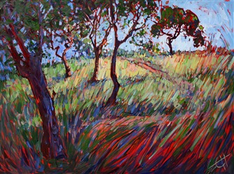 Expressive oil painting of Paso Robles, by modern impressionism painter Erin Hanson