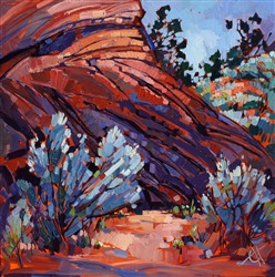Coyote Buttes, Arizona desert oil painting by Erin Hanson