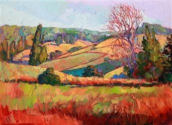 Northwest wine country original oil painting by Erin Hanson