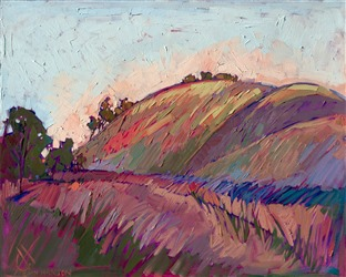 Colorful hill country of Paso Robles painted impressionistically by Erin Hanson