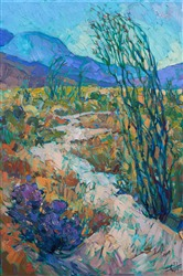 Anza Borrego California desert wildflowers oil painting for sale by modern artist Erin Hanson