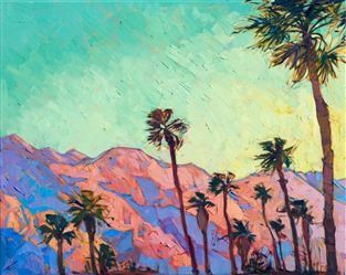 Palm Desert landscape oil painting by California contemporary artist Erin Hanson