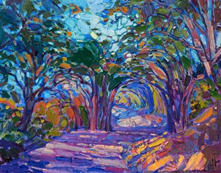 Petite oil painting for sale by Erin Hanson