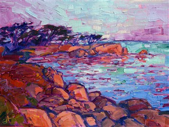 Small oil painting of Monterey by Erin Hanson