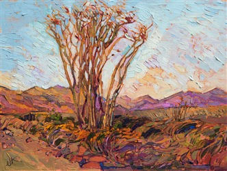 Borrego Springs ocotillo painting by contemporary artist.