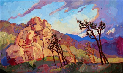 Joshua Tree National Park, original oil painting by American impressionist Erin Hanson