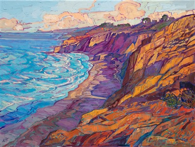 Torrey Pines San Diego original oil painting for sale by local artist Erin Hanson