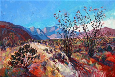 Impressive beauty of the desert communicated in colorful oils by Erin Hanson