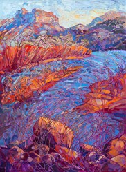 Zion National Park painting by contemporary expressionist landscape painter Erin Hanson.