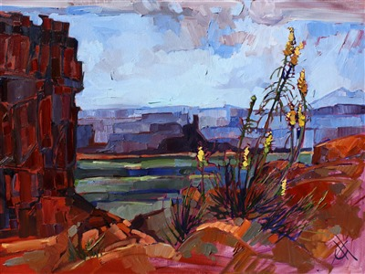 Valley of the Gods, oil painting landscape by Erin Hanson