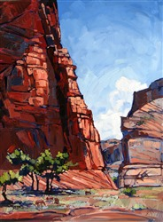 Canyon de Chelly landscape oil painting by Erin Hanson
