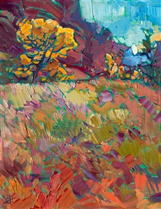 Kolob Canyon original impressionist oil painting by Erin Hanson