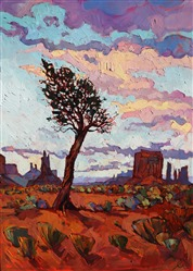 Monument Pine, original oil painting by Erin Hanson