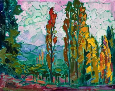 Napa California original oil painting for sale by modern impressionist Erin Hanson