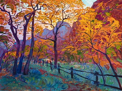 Zion national park museum show, featuring contemporary impressionist Erin Hanson