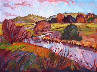 San Luis Obispo landscape artwork by oil painter Erin Hanson