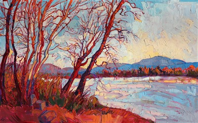Montana landscape painting impressionist artwork by Erin Hanson
