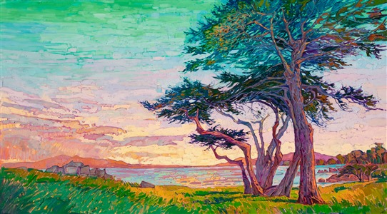 Lover's Point, Monterey, original California impressionism landscape painting