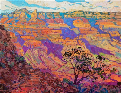 Grand Canyon original oil painting for sale by impressionism artist Erin Hanson