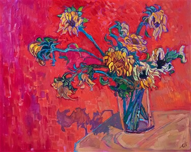 Sunflowers after Van Gogh, by contemporary impressionist Erin Hanson