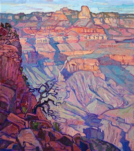 Modern impressionism oil painting of Grand Canyon National Park, by Erin Hanson