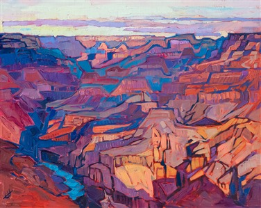 Erin Hanson Grand Canyon oil painting in a contemporary impressionism style.