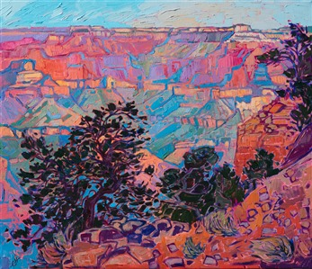 Grand Canyon celebration of art, oil painting by Erin Hanson