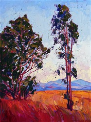 California eucalyptus painting by modern impressionism painter Erin Hanson