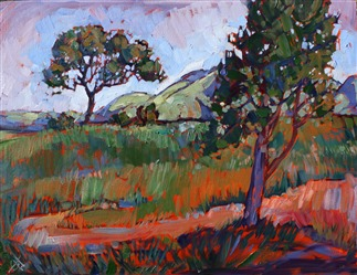 Oaks at Paso, original oil painting by Erin Hanson