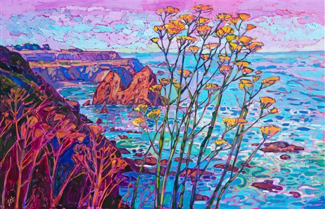 California coastal painting of Highway 1, for sale by American impressionist Erin Hanson